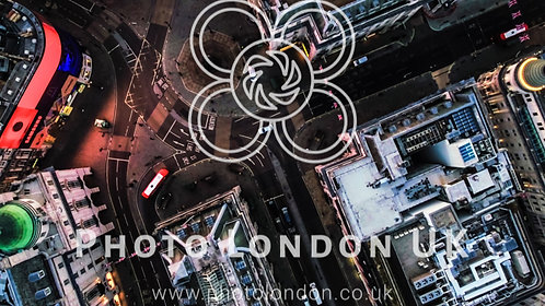 Photo Of Bird's Eye View Flying Over Piccadilly Circus, London, England