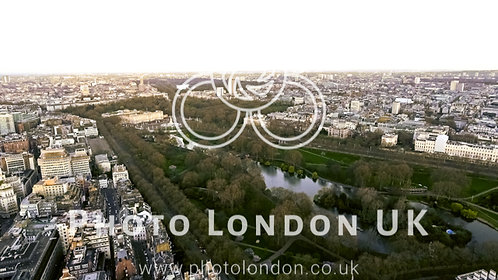Aerial View Of Buckingham Palace And St James Park In City Of London 4K