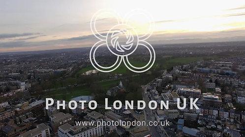 London Suburban Downtown Neighborhood Clapham Park Aerial View