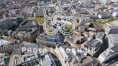 Aerial View Orbiting Gothic Brabant Church In Brussels 4K