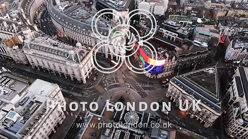 London's Iconic Square Piccadilly Circus Aerial View