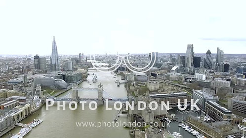Aerial Cityscape Bird Eye View Video Of London And The River Thames
