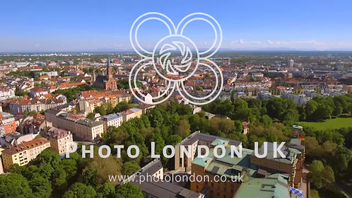 Munich City Urban Residential Aerial View HD - 4K