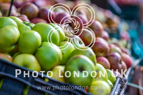 Fresh Green And Various Apples