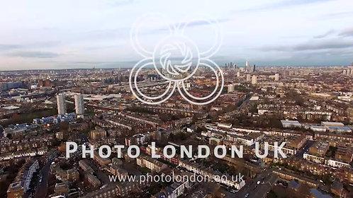 London Urban Cityscape Aerial View 4K