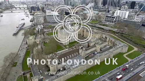 Aerial Bird Eye View Tower Of London Historical Medieval Castle