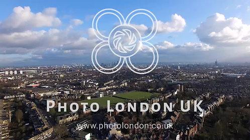 4K Aerial Urban View Of London City