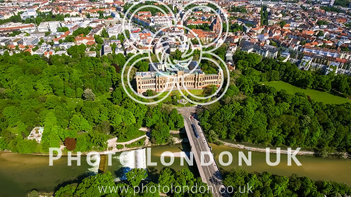 Aerial View Of Iconic Landmark Maximilianeum In Munich Germany