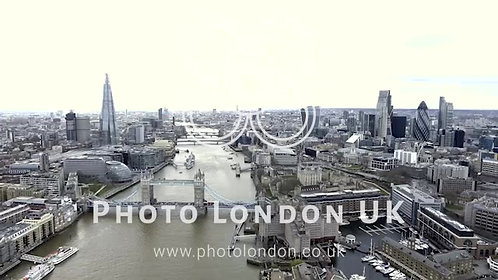 Aerial View Iconic Landmarks And Cityscape Of London 4K Uhd
