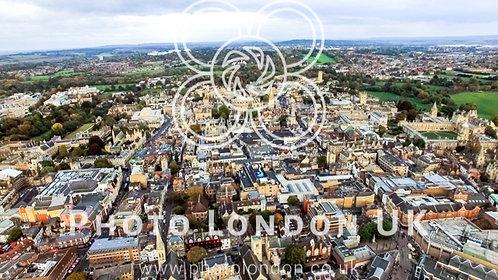 Oxford City And University Skyline England Aerial Photo