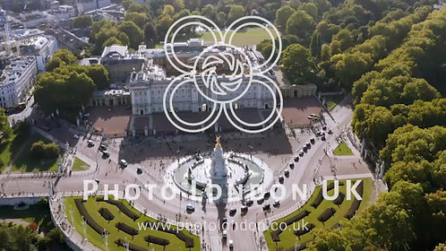 Aerial View Of Royal Residence Buckingham Palace In London