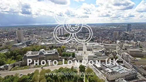 Aerial View Of The Royal Palace Of Brussels And The Cityscape In Belgium