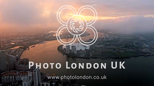 4K Aerial View Above London O2 Arena By The River Thames