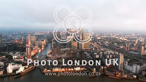Aerial Video Of Iconic Skyscrapers In London