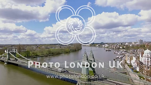 Aerial View Hammersmith Bridge And River Thames 4K