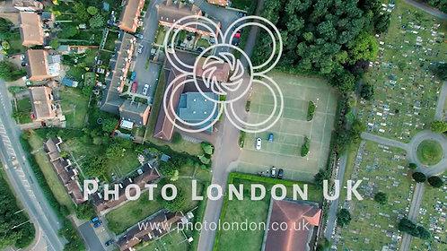4K Aerial View Houses In Residential Suburban Neighborhood