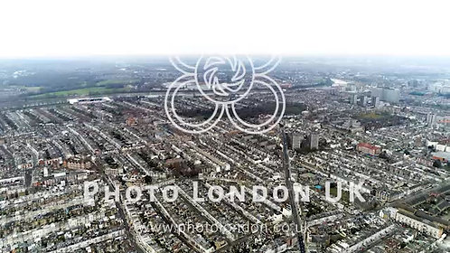 Aerial View Of Chelsea, Fulham, West Kensington And Parsons Green In London 4K