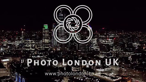 Aerial View Of Urban City Of London At Night
