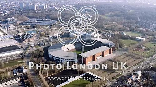 King Baudouin Stadium And Atomium In Brussels, Belgium