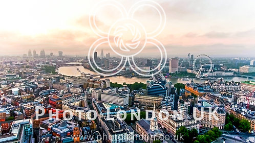 Aerial View Photo Of Beautiful Sunrise At The City Of London