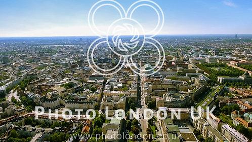 Aerial Bird Eye View Photo Of Munich Cityscape