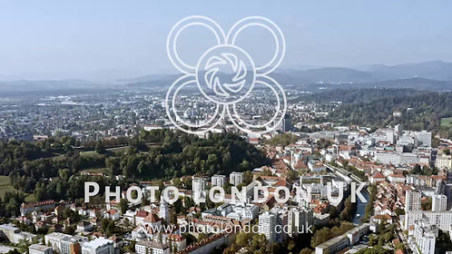 Ljubljana City And Castle Aerial View In Slovenia