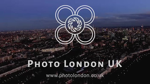 Aerial View Central London At Night Cityscape With Dusk Sky Around Regent's Park