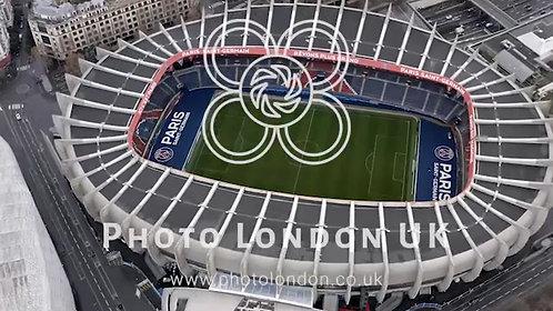 Aerial View Of Le Parc Des Princes Stadium For Soccer Team Paris Saint-Germain