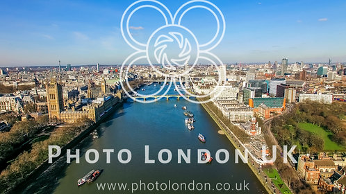 Aerial View Photo Of Big Ben Parliament Famous Landmark And London Eye