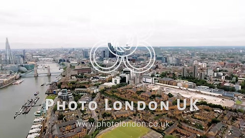 4K Aerial View Of The London Skyline And Famous London Skyscrapers