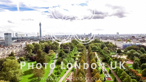 Aerial View London City View Around The Regents Park