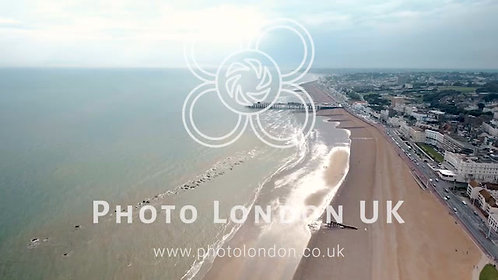 Hastings Beach And Pier Aerial Video
