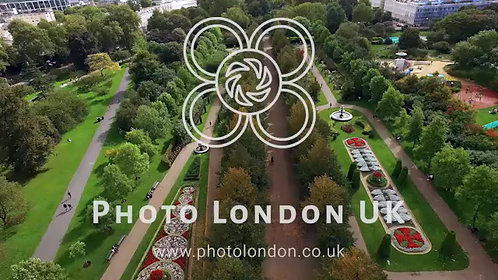 Beautiful Elegant The Regent's Park Gardens Aerial View In London