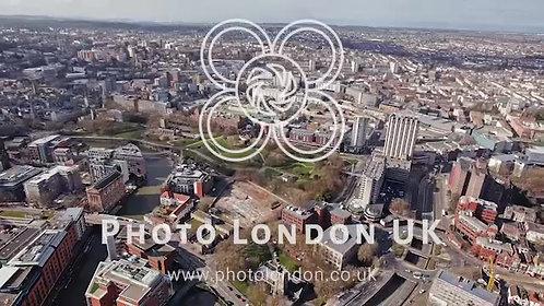 Aerial View Of Bristol Cityscape 4K