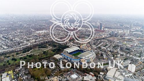 Stamford Bridge Home Stadium Of Chelsea Football Club Aerial View