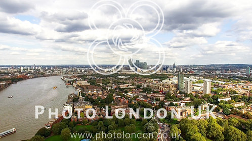South East London Aerial City View Neighborhood