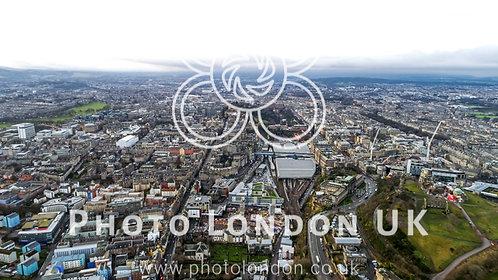 Edinburgh Scotland Aerial View Cityscape
