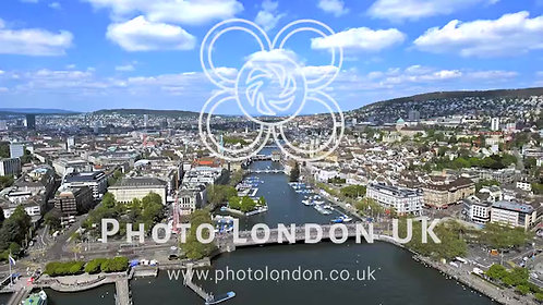 The New Aerial View Of Zurich Cityscape In Switzerland