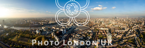 The New London Skyline Aerial Panorama View