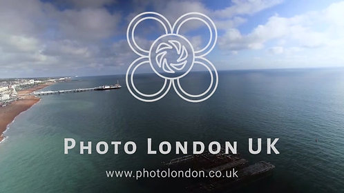 4K Panning Aerial View From The Old West Pier To New Brighton Pier, England