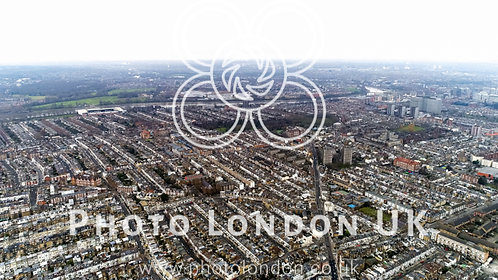Aerial View Of Chelsea, Fulham, West Kensington And Parsons Green In London