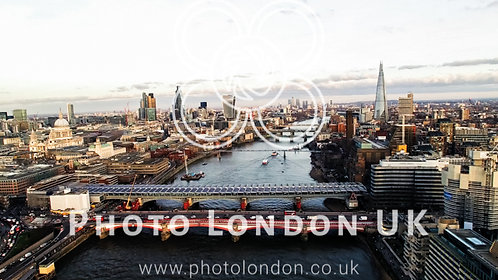 Aerial View Of Financial District And Landmarks In Central London