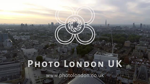 Aerial View London Sunrise Cityscape