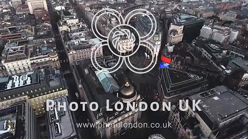 4K Aerial Stock Footage of Piccadilly Circus London