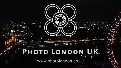 Aerial View Of Iconic London Landmarks At Night