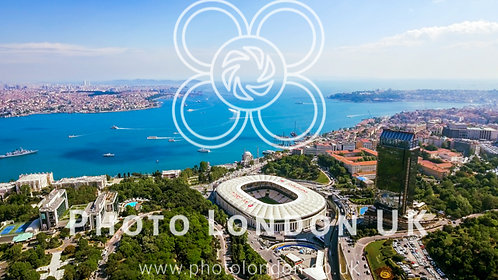 New Istanbul Skyline Cityscape Aerial View Of Beautiful Bosphorus