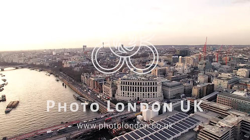 4K City Of London And River Thames Aerial