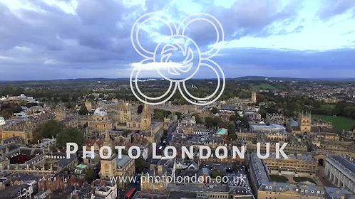 Oxford City And University Aerial Panoramic View