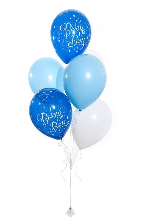 Baby Boy Balloon Bunch