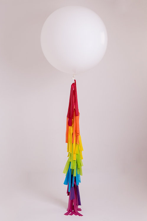 Rainbow Tassel Tail Balloon